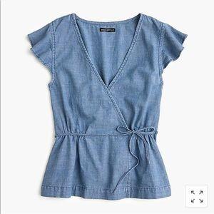 Women's size 16 JCREW Chambray shirt